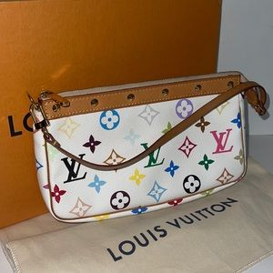 Authentic Louis Vuitton multicolor pochette purse